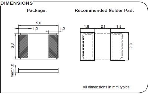微晶晶振,贴片晶振,CC2A-T1A晶振,石英SMD晶振