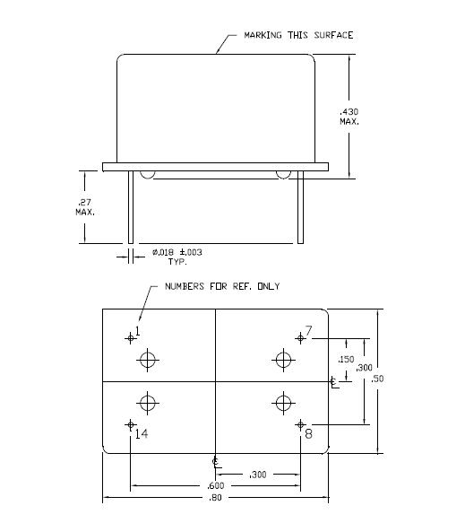 进口温补石英晶体振荡器,插件tcxo晶振,t1220晶振