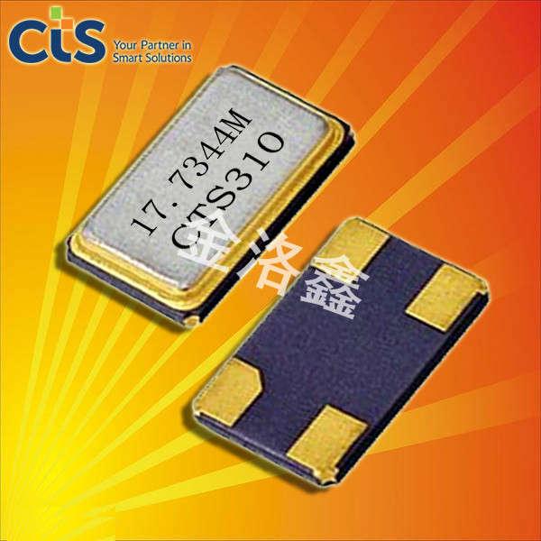 CTS晶振,压电石英晶体谐振器,406晶振