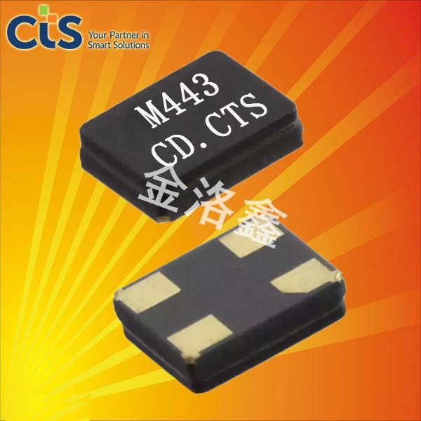 CTS晶振,陶瓷面贴片晶体,443晶振
