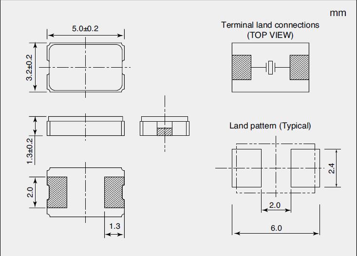 NDK晶振,贴片晶振,NX5032GA晶振,NX5032GA-16MHZ-STD-CSK-4晶振