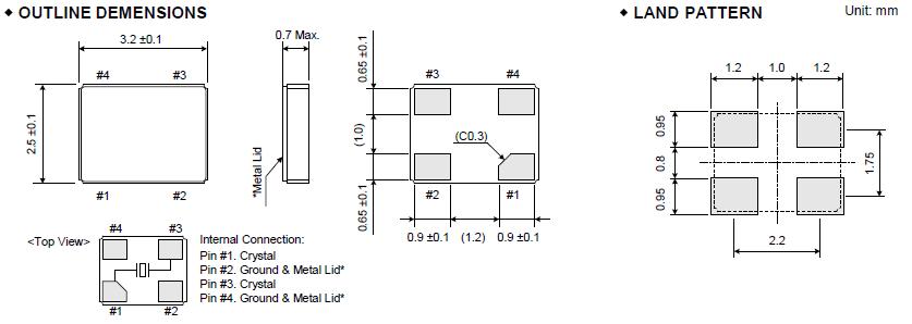 低频8mhz石英晶振,3.2*2.5mm金属贴片晶振,fcx-04c晶振
