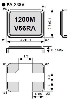 爱普生晶振,贴片晶振,fa-238v晶振,无源石英晶振