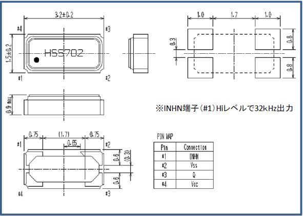 精工晶振,32.768K有源晶振,SH-32S晶振,进口晶体振荡器