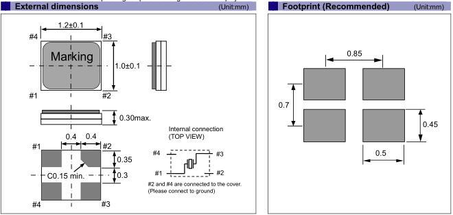 爱普生晶振,贴片晶振,FA1210AN晶振,日本小体积1210谐振器